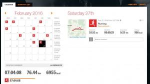 Sports Tracker Kalender