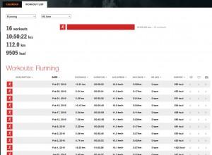 Sports Tracker Liste