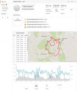 1 Halbmarathon I Lauf I Strava